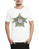 Printed T-Shirt White IB-T-M-M-21 - Ibrand