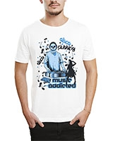 Printed T-Shirt White IB-T-M-MU-01 - Ibrand