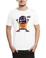 Printed T-Shirt White IB-T-M-MU-03 - Ibrand