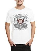 Printed T-Shirt White IB-T-M-MU-05 - Ibrand