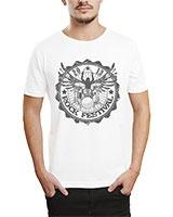 Printed T-Shirt White IB-T-M-MU-07 - Ibrand