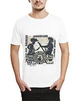 Printed T-Shirt White IB-T-M-MU-15 - Ibrand