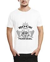 Printed T-Shirt White IB-T-M-MU-16 - Ibrand