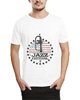 Printed T-Shirt White IB-T-M-MU-17 - Ibrand