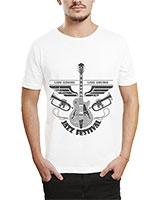 Printed T-Shirt White IB-T-M-MU-18 - Ibrand