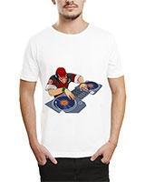 Printed T-Shirt White IB-T-M-MU-19 - Ibrand