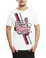 Printed T-Shirt White IB-T-M-MU-22 - Ibrand