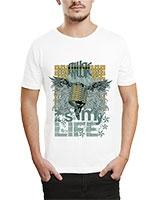 Printed T-Shirt White IB-T-M-MU-26 - Ibrand