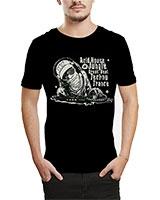 Printed T-Shirt Black IB-T-M-MU-41 - Ibrand