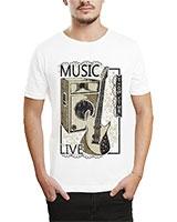 Printed T-Shirt White IB-T-M-MU-42 - Ibrand