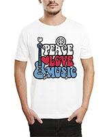 Printed T-Shirt White IB-T-M-MU-44 - Ibrand