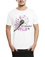 Printed T-Shirt White IB-T-M-MU-52 - Ibrand