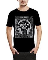 Printed T-Shirt Black IB-T-M-MU-55 - Ibrand