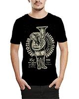 Printed T-Shirt Black IB-T-M-MU-59 - Ibrand