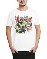 Printed T-Shirt White IB-T-M-MU-61 - Ibrand