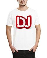 Printed T-Shirt White IB-T-M-MU-63 - Ibrand