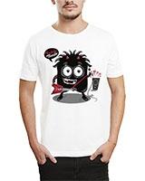 Printed T-Shirt White IB-T-M-MU-66 - Ibrand