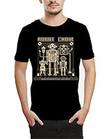 Printed T-Shirt Black IB-T-M-MU-67 - Ibrand