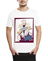 Printed T-Shirt White IB-T-M-MU-74 - Ibrand