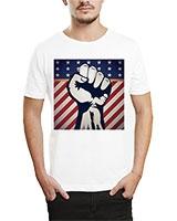 Printed T-Shirt White IB-T-M-R-03 - Ibrand