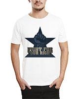 Printed T-Shirt White IB-T-M-R-04 - Ibrand