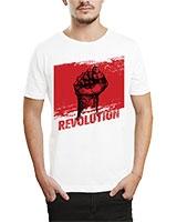 Printed T-Shirt White IB-T-M-R-10 - Ibrand