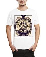 Printed T-Shirt White IB-T-M-R-13 - Ibrand