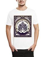 Printed T-Shirt White IB-T-M-R-14 - Ibrand