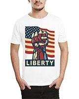 Printed T-Shirt White IB-T-M-R-17 - Ibrand