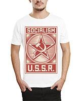 Printed T-Shirt White IB-T-M-R-18 - Ibrand