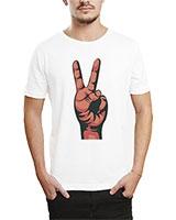 Printed T-Shirt White IB-T-M-R-21 - Ibrand