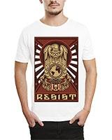 Printed T-Shirt White IB-T-M-R-22 - Ibrand