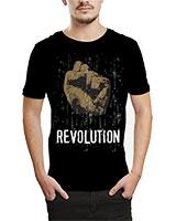 Printed T-Shirt Black IB-T-M-R-26 - Ibrand
