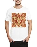 Printed T-Shirt White IB-T-M-R-29 - Ibrand