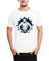 Printed T-Shirt White IB-T-M-S-774 - Ibrand