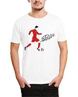 Printed T-Shirt White IB-T-M-S-782 - Ibrand