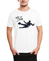 Printed T-Shirt White IB-T-M-S-787 - Ibrand