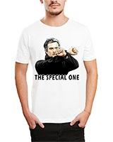 Printed T-Shirt White IB-T-M-S-794 - Ibrand