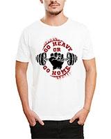 Printed T-Shirt White IB-T-M-S-818 - Ibrand