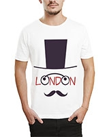 Printed T-Shirt White IB-T-M-W-01 - Ibrand