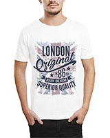 Printed T-Shirt White IB-T-M-W-05 - Ibrand