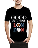 Printed T-Shirt Black IB-T-M-W-08 - Ibrand