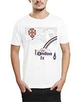 Printed T-Shirt White IB-T-M-W-12 - Ibrand