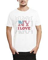 Printed T-Shirt White IB-T-M-W-13 - Ibrand