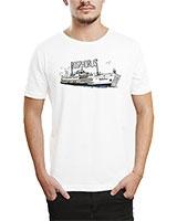 Printed T-Shirt White IB-T-M-W-19 - Ibrand