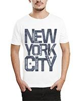 Printed T-Shirt White IB-T-M-W-24 - Ibrand