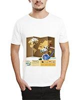 Printed T-Shirt White IB-T-M-W-28 - Ibrand