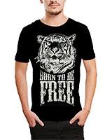 Printed T-Shirt Black IB-T-M-D-027 - Ibrand