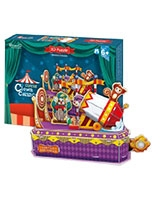 Circus-Clown Cannon 3D Puzzle 52 Pieces - Cubic Fun