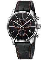 Men's Watch City Black Chronograph Watch K2G271C1 - Calvin Klein